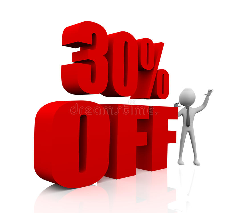 30% discount vector illustration