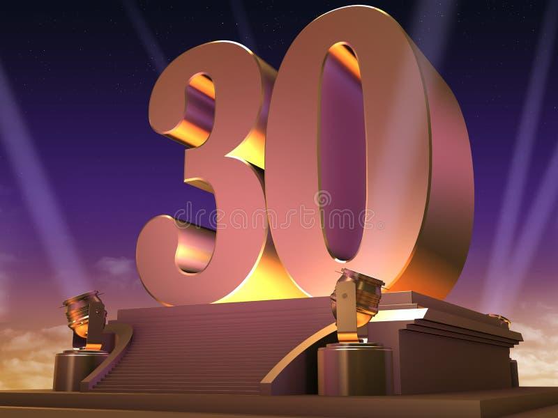 30 dorati - stile della pellicola royalty illustrazione gratis