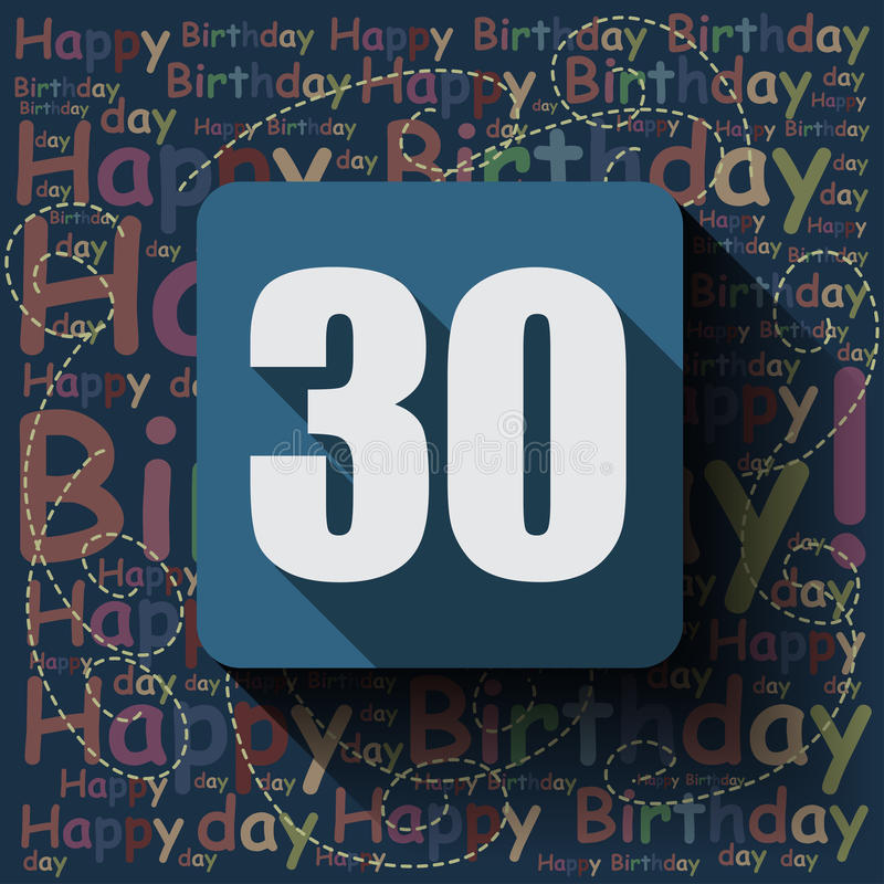 Free 30 Happy Birthday Background Or Card. Royalty Free Stock Photos - 53771228