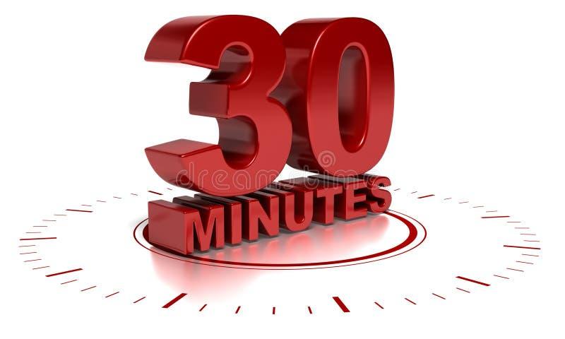 30 minutes vector illustration