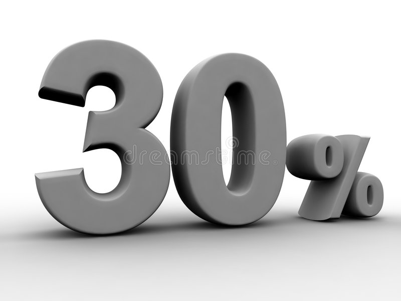 30 per cento illustrazione vettoriale