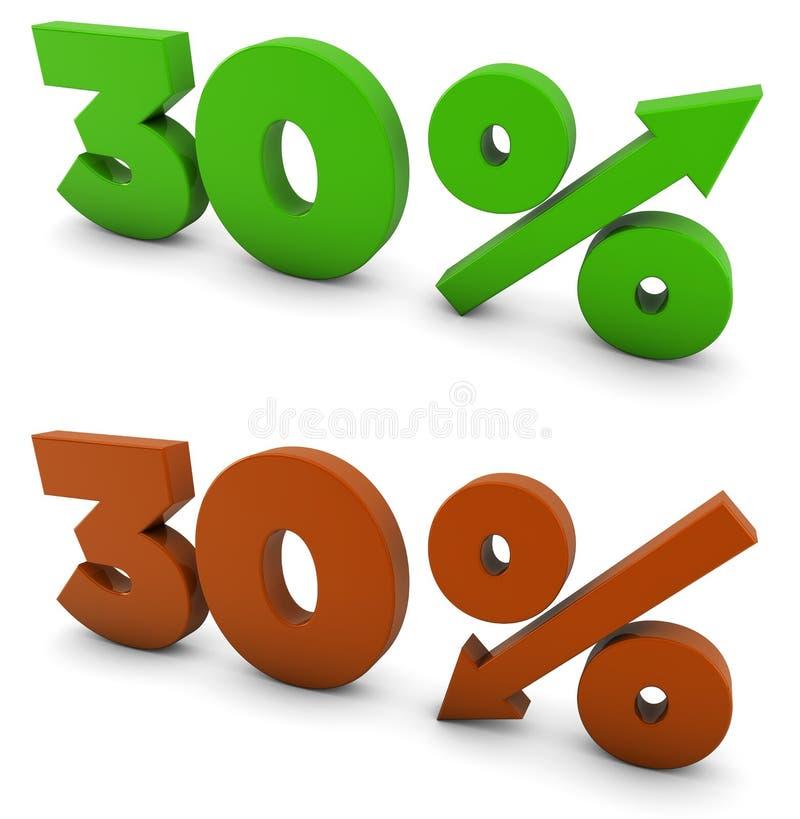 30 procent royaltyfri illustrationer