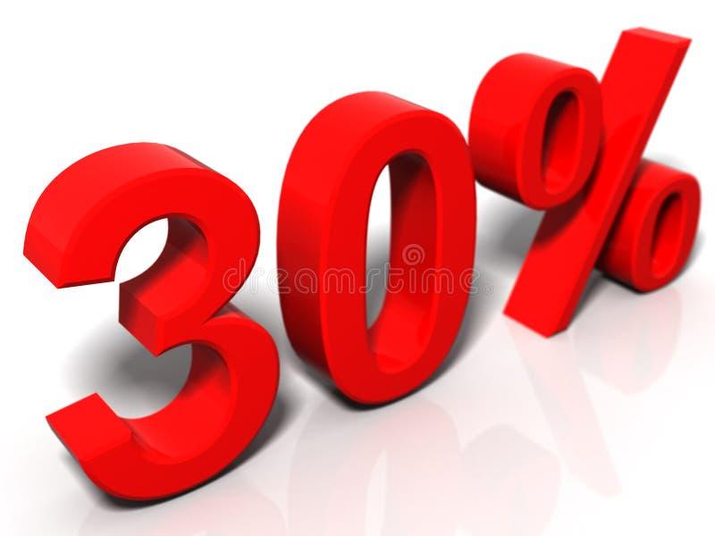 30 Prozent stock abbildung