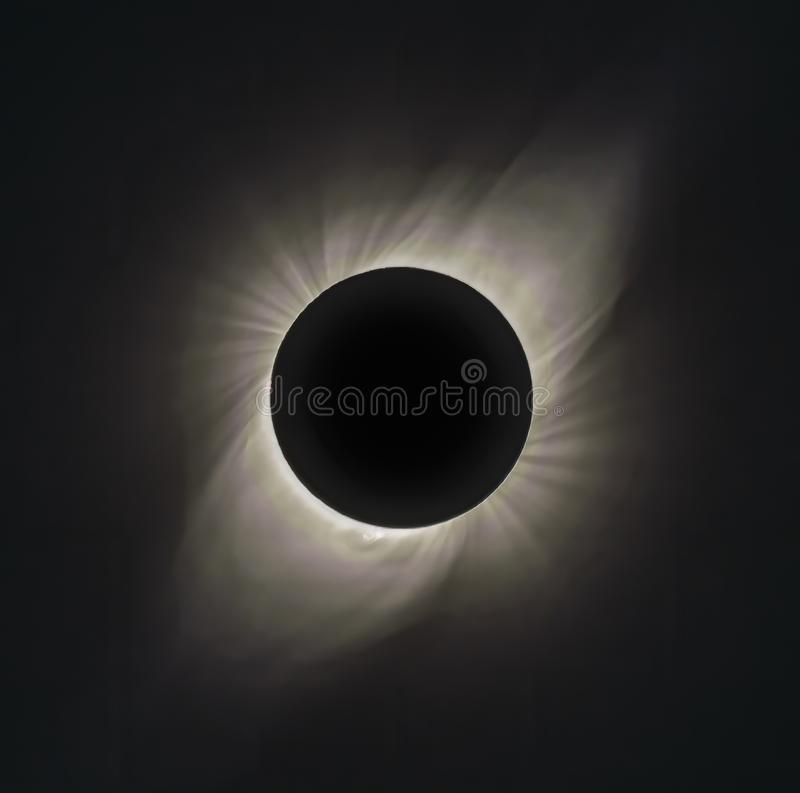 Free 30-stop HDR Of Corona Of Solar Eclipse At Totality Seen From Vacuna Chile On July 2, 2019 Stock Images - 158528674