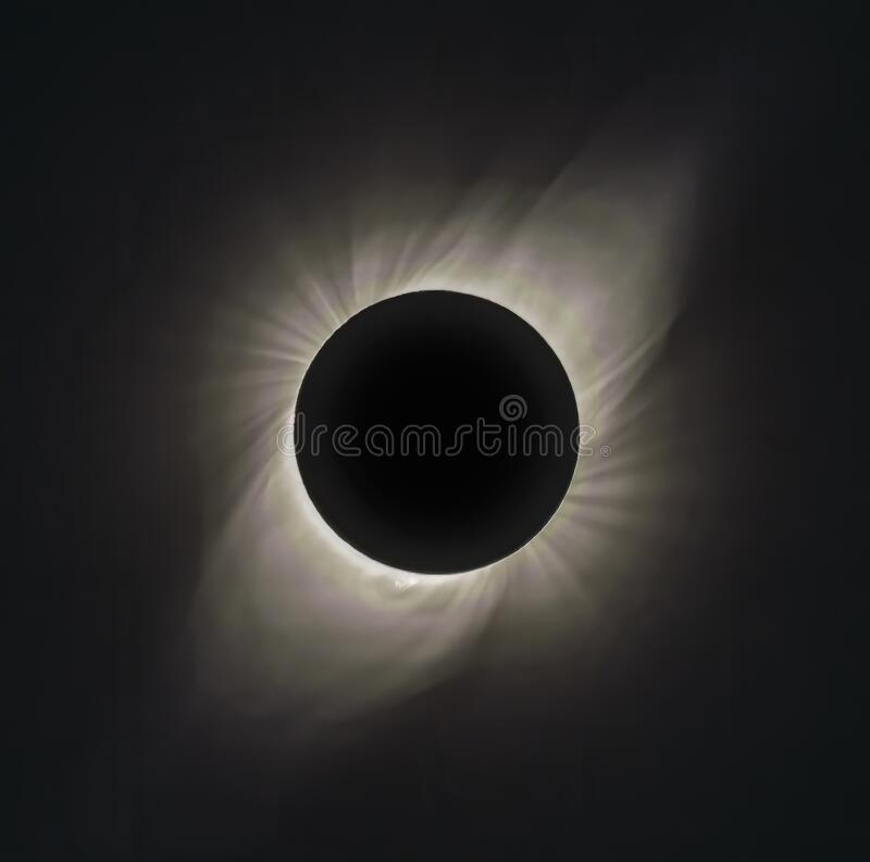 Free 30-stop HDR Of Corona Of Solar Eclipse At Totality Seen From Vacuna Chile On July 2, 2019 Royalty Free Stock Images - 213395139