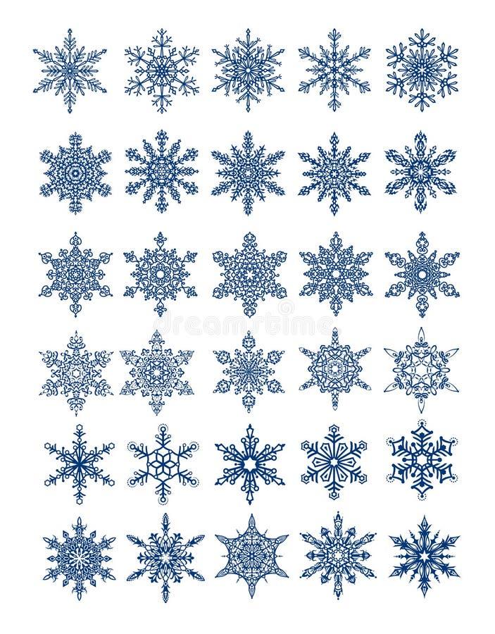 Download 30 Unique Snowflakes In All /  Vector Stock Vector - Image: 11766429