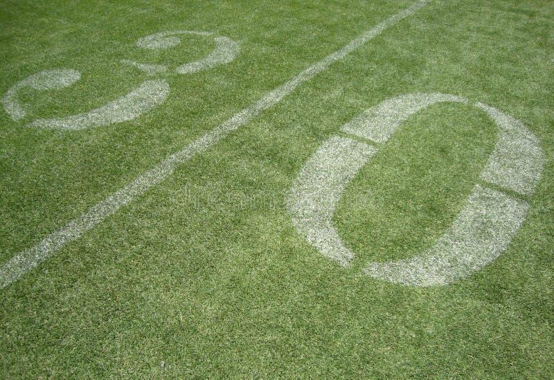 30 yard line stock photography
