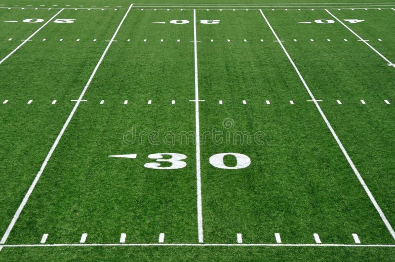 30 Yard Line on American Football Field stock photography