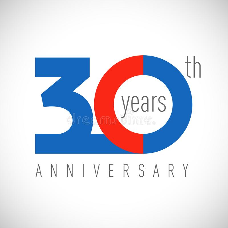 Free 30 Years Anniversary Logo Stock Images - 158254864