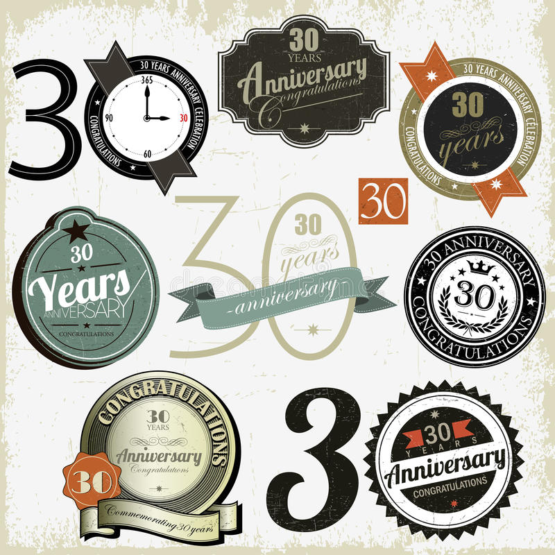Download 30 Years Anniversary Signs Royalty Free Stock Photography - Image: 27555927