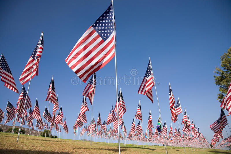 3000 flags in Malibu. 3000 Flags, September 11, 2009, Malibu CA stock image