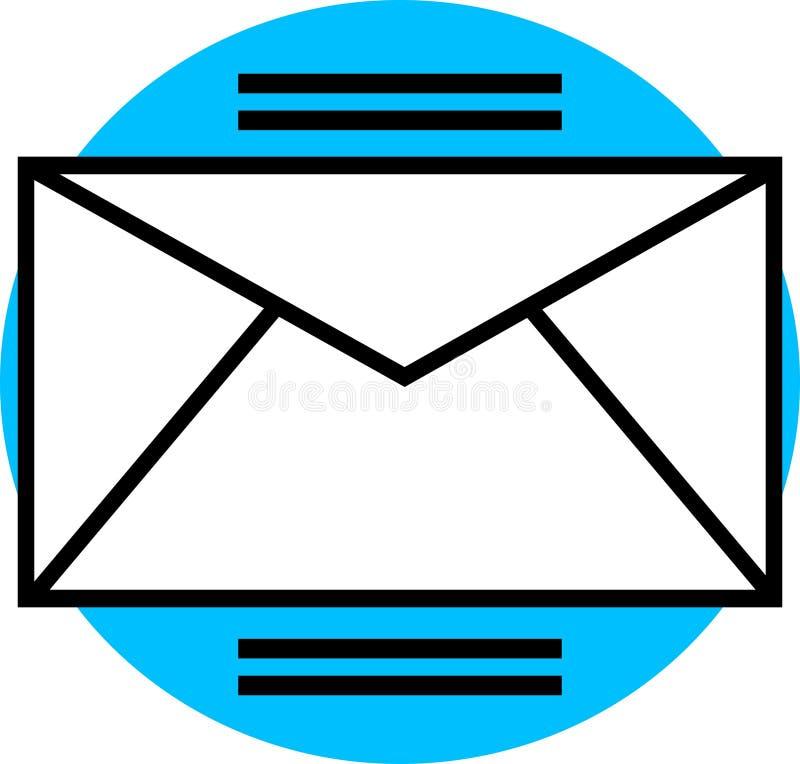 电子邮件图象 库存例证