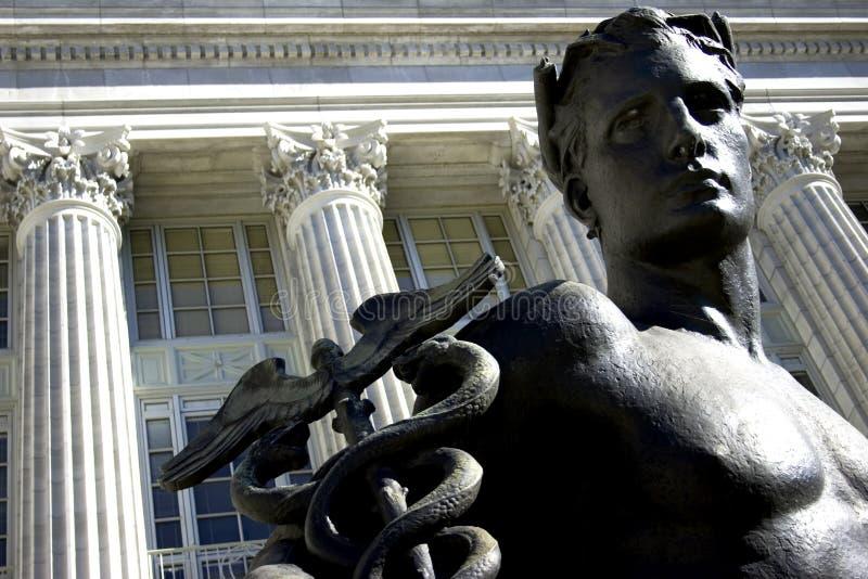 男性雕象 免版税库存照片
