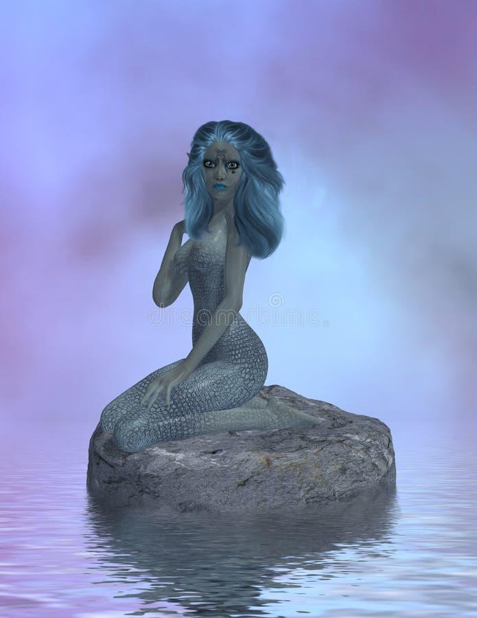 Download 300dpi Siren Sitting On Rocks Stock Images - Image: 2732414