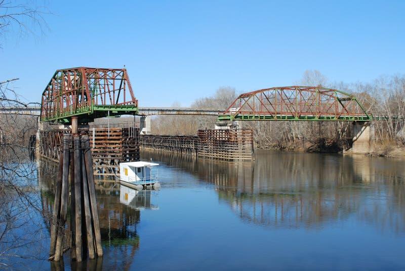 301老桥梁 库存图片