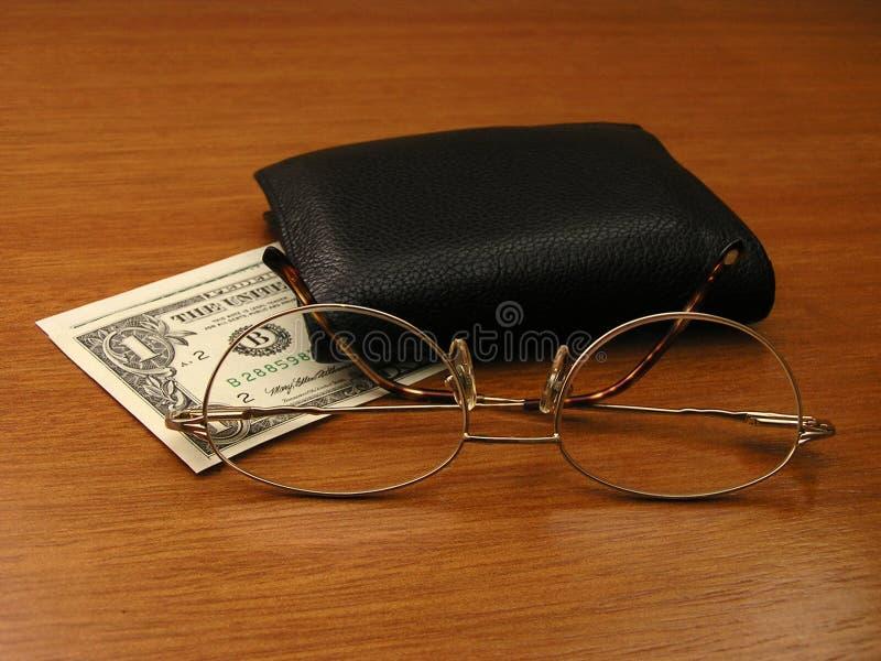 眼镜钱包 库存照片