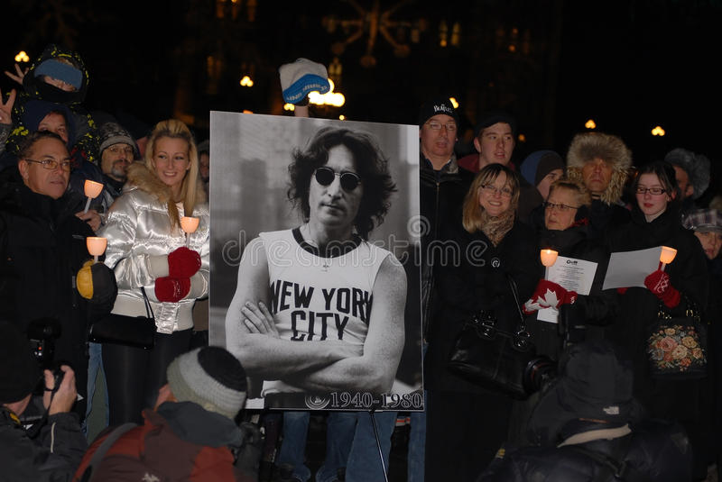 30th anniversary of John Lennon's death royalty free stock images