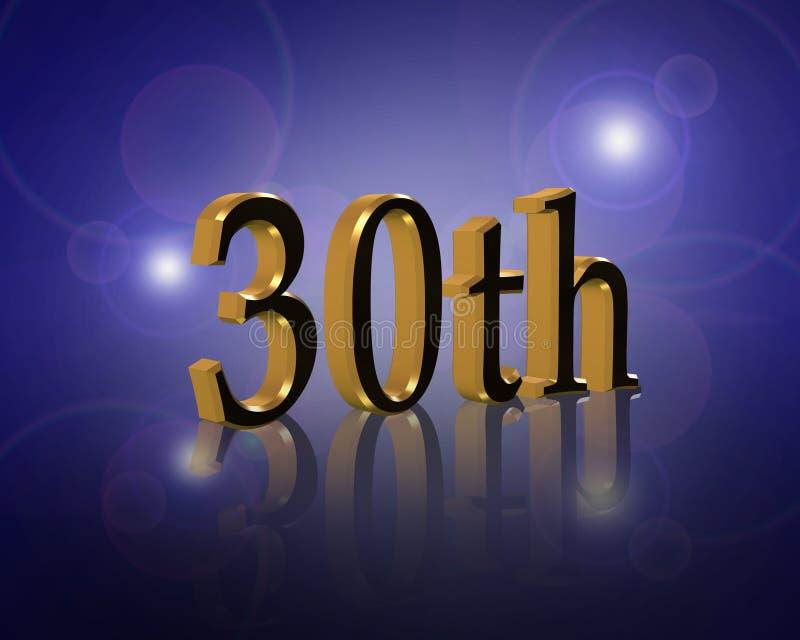 30Th Birthday or anniversary party Invitation stock photos