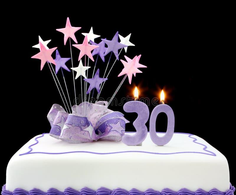 30th cake royaltyfri bild