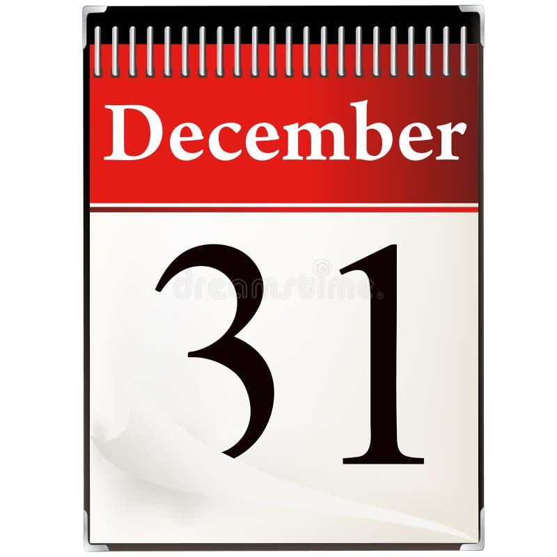 31 december kalender   vector illustratie