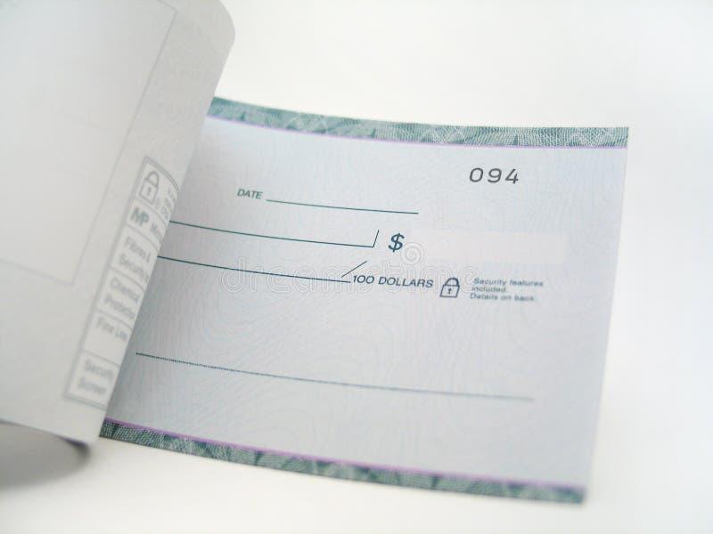 空白支票 免版税库存图片