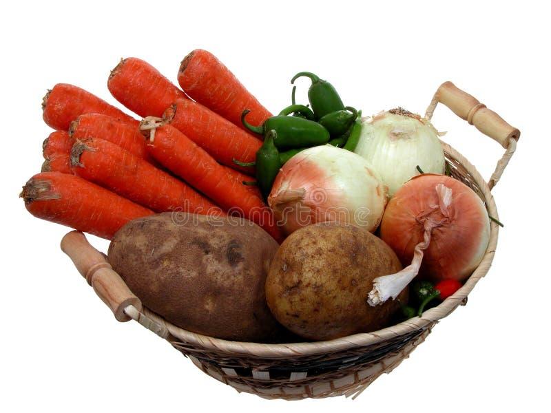 篮子食物素食者 免版税库存照片