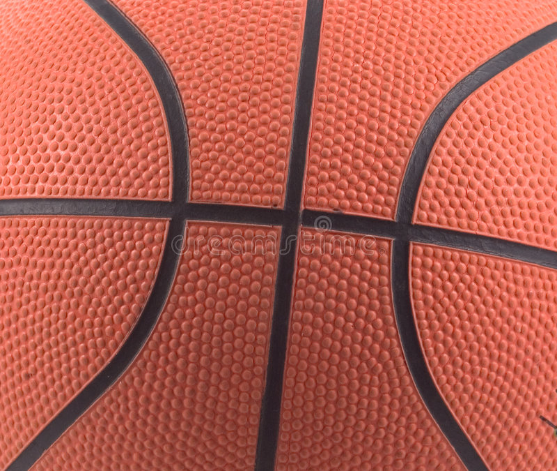 篮球详细资料 免版税库存照片