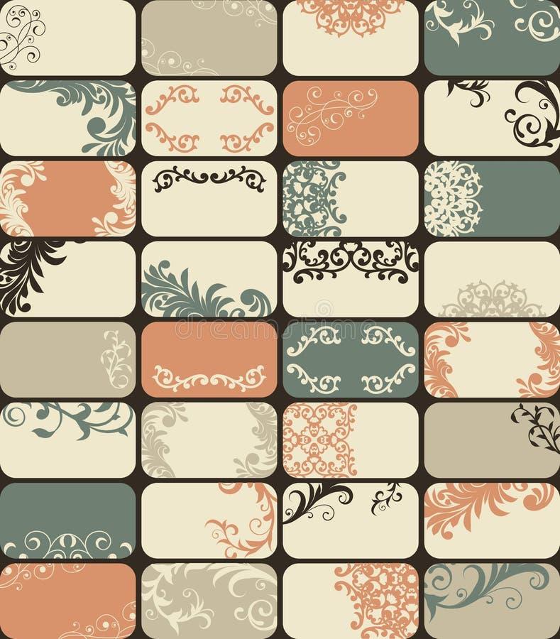 32 επαγγελματικές κάρτες διανυσματική απεικόνιση