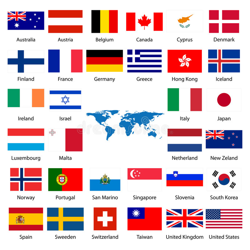 Download 32 Industrialized Country Flag Stock Vector - Illustration: 5311587