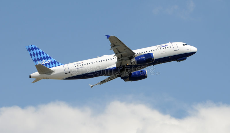 320 Airbus jetblue obrazy stock