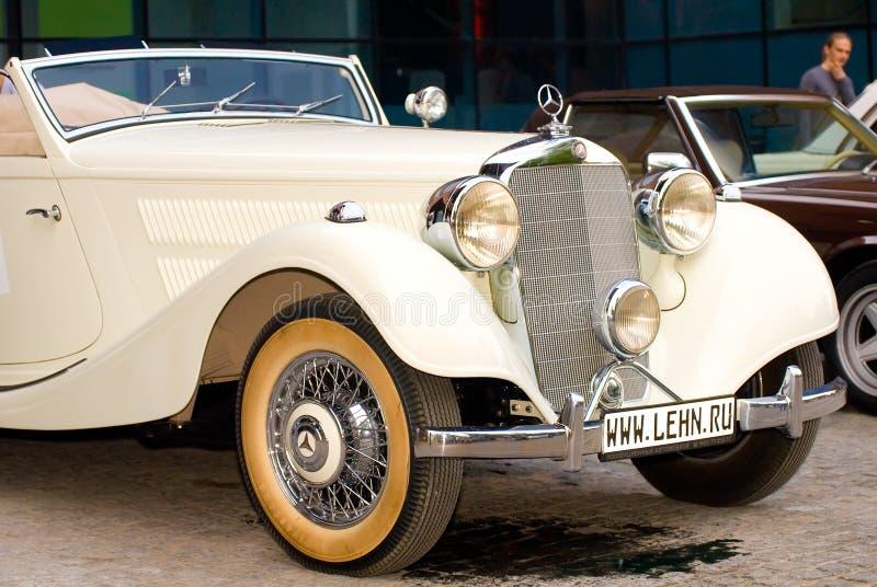 320 benz kabrioletu z kości słoniowej Mercedes rocznik obrazy royalty free