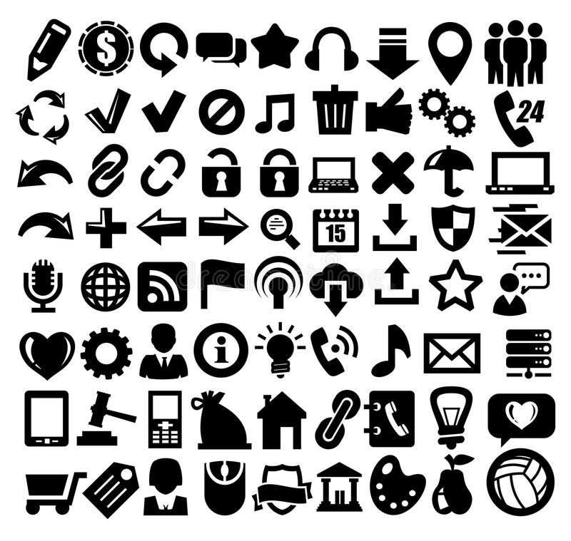 324 iconos del Web libre illustration