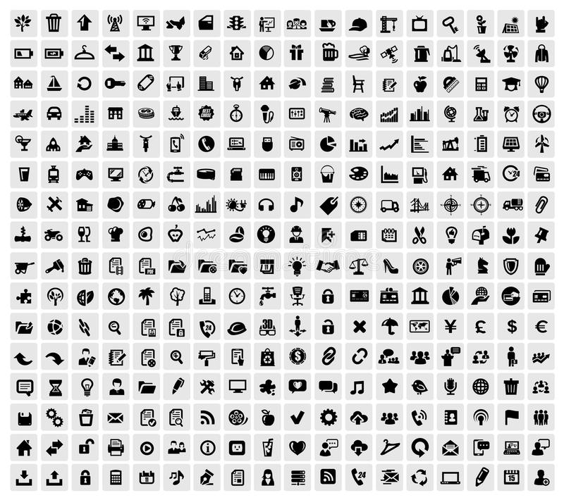 324 Web-Ikonen stock abbildung
