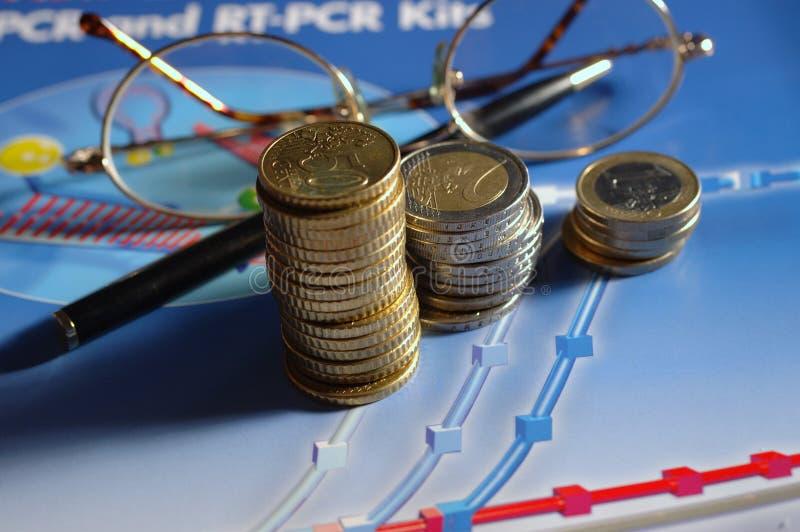 绘制货币图表 免版税库存照片