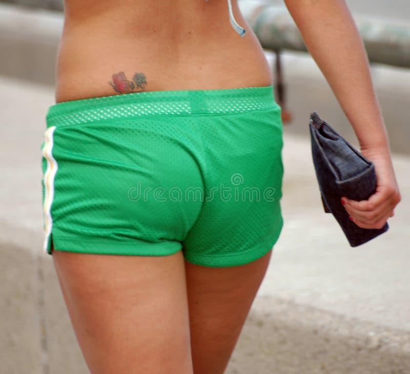 绿色短裤 库存图片