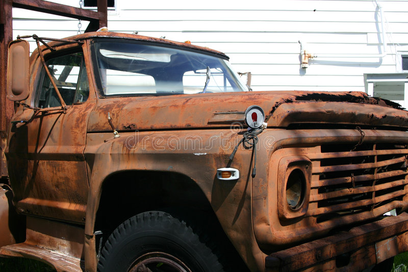 老生锈的truck2 库存图片