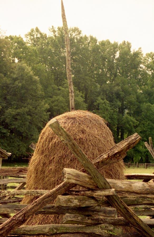 老被塑造的干草堆 免版税库存图片
