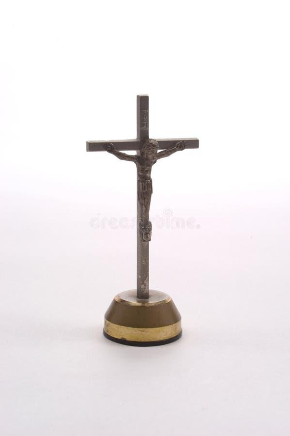 耶稣受难象控制板 库存照片