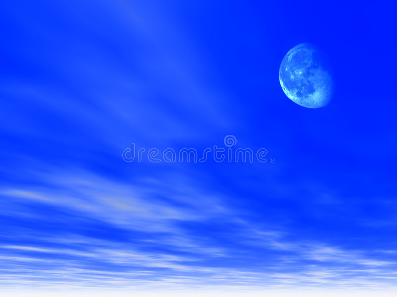 背景月亮天空 向量例证