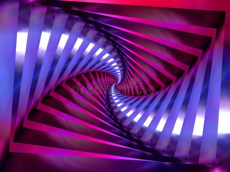 背景紫色螺旋漩涡 库存例证