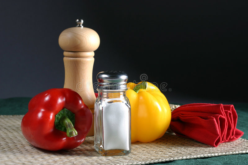 胡椒盐 免版税库存图片