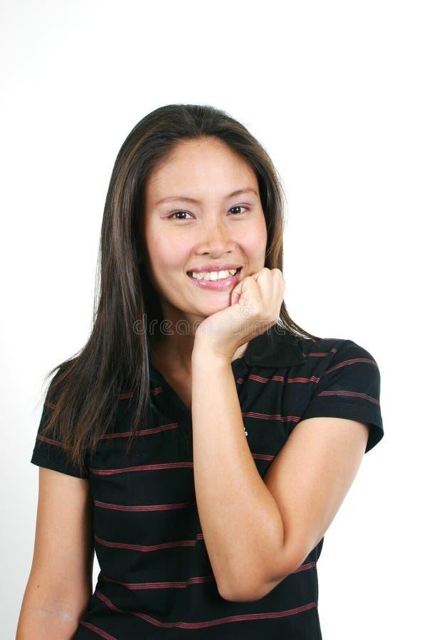 33个亚洲有吸引力的女孩年轻人 免版税库存图片