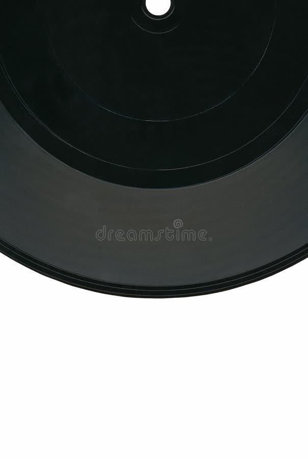 33rpm黑色剪报标签记录葡萄酒乙烯基 免版税库存照片