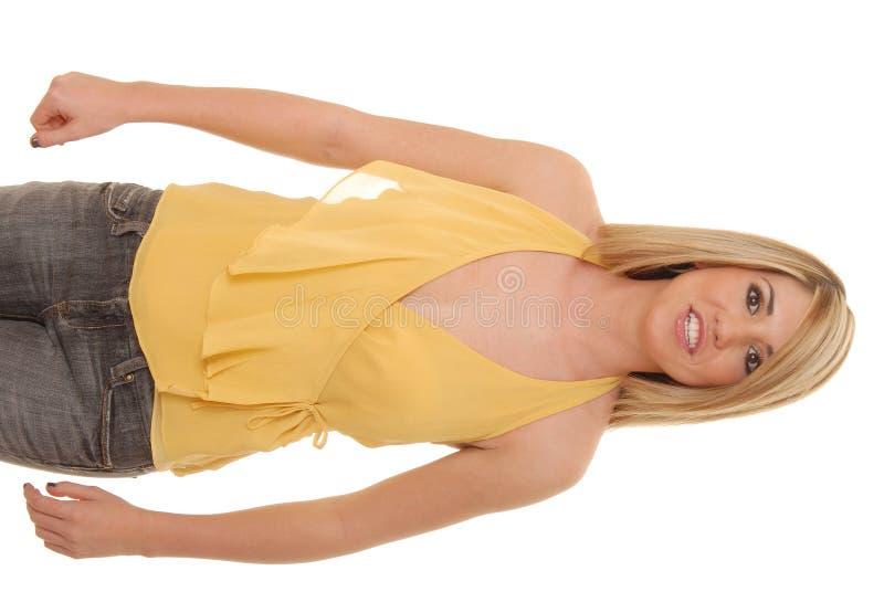 34 blondynką urocza dziewczyna fotografia stock