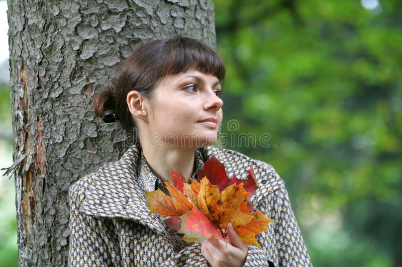 34 jesienią kobieta obrazy stock