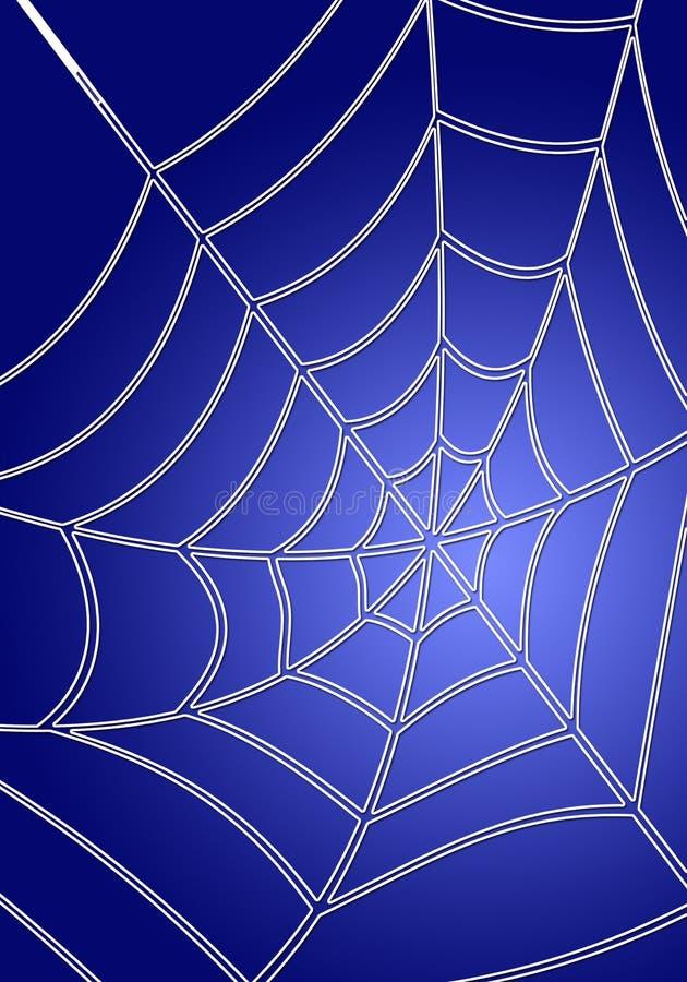 蓝色spiderweb 向量例证