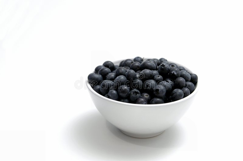 蓝莓碗 库存照片