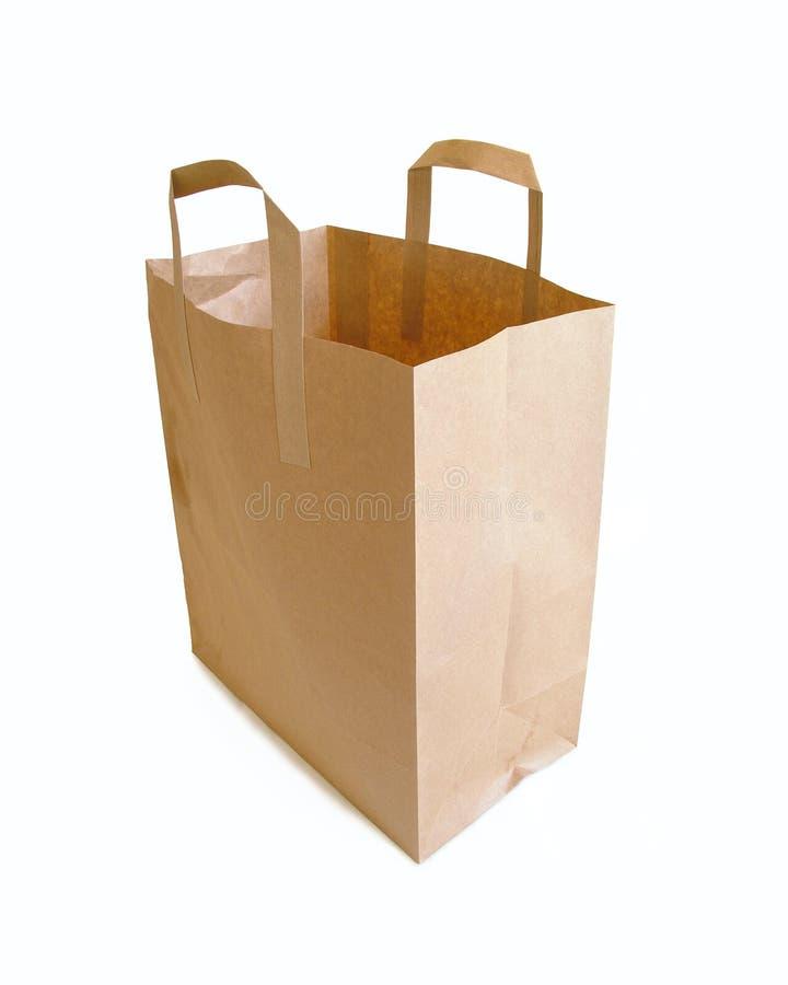 袋子截去的纸张通路 库存图片