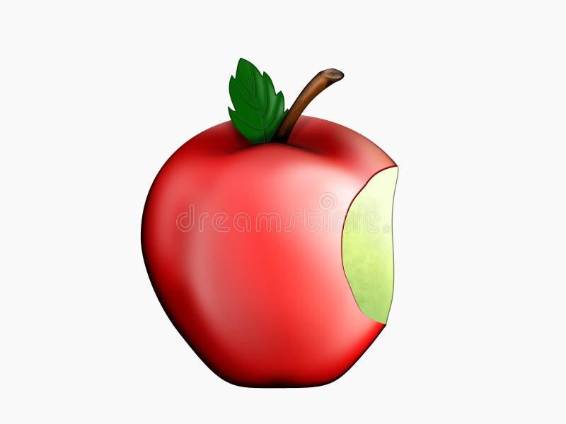 被咬住的苹果 向量例证