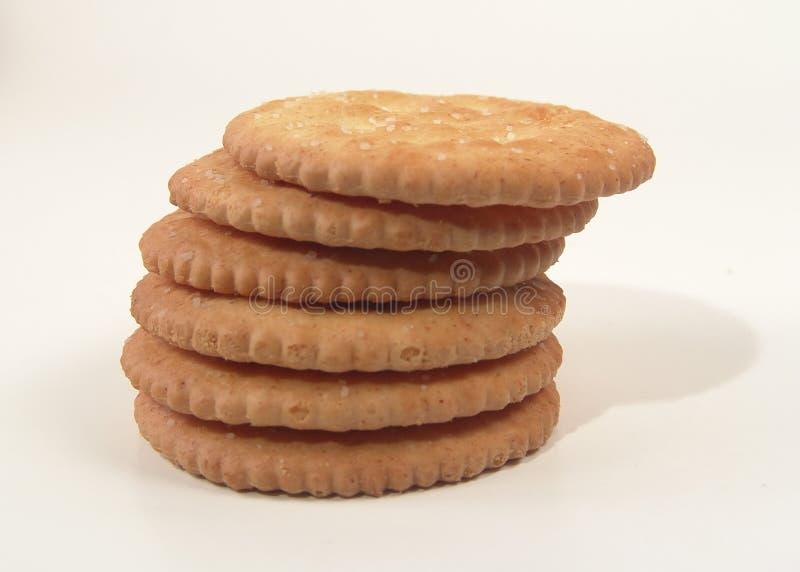 被堆积的薄脆饼干 库存照片